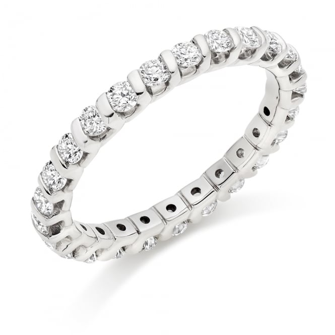 Lance James Wedding & Eternity 9ct White Gold Fully Set 1.00ct Diamond Eternity Ring