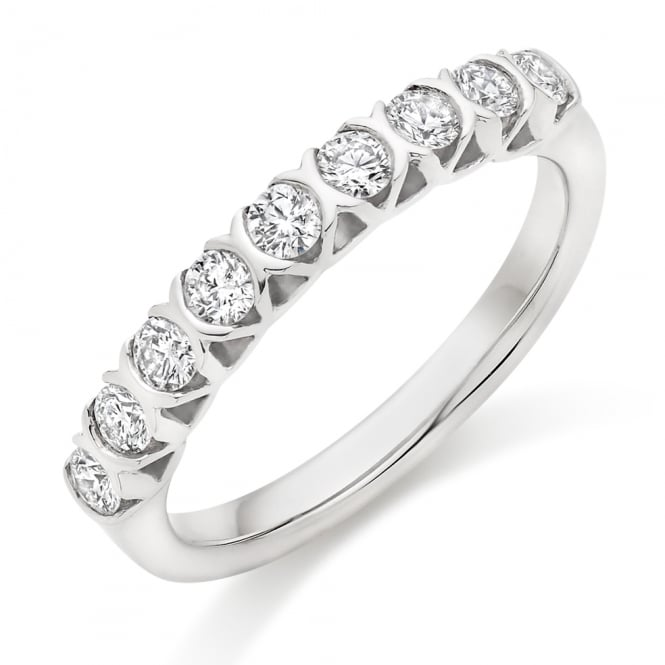 Lance James Wedding & Eternity 9ct White Gold Half Set 0.50ct Diamond Wedding Ring