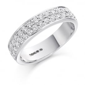 9ct White Gold Half Set 0.75ct Diamond Ring
