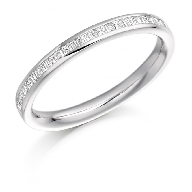 Lance James Wedding & Eternity 9ct White Gold Half Set Mixed Cut 0.30ct Diamond Ring