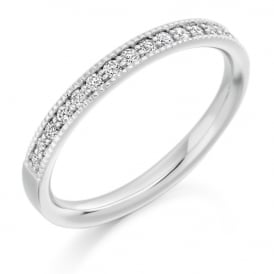 9ct White Gold Vintage Style 0.25ct Diamond Ring