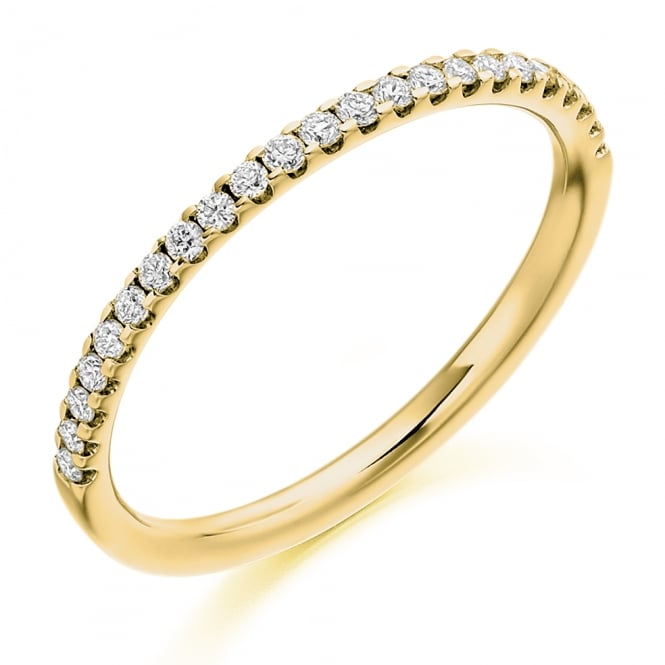 Lance James Wedding & Eternity 9ct Yellow Gold 0.25ct Micro Claw Diamond Ring