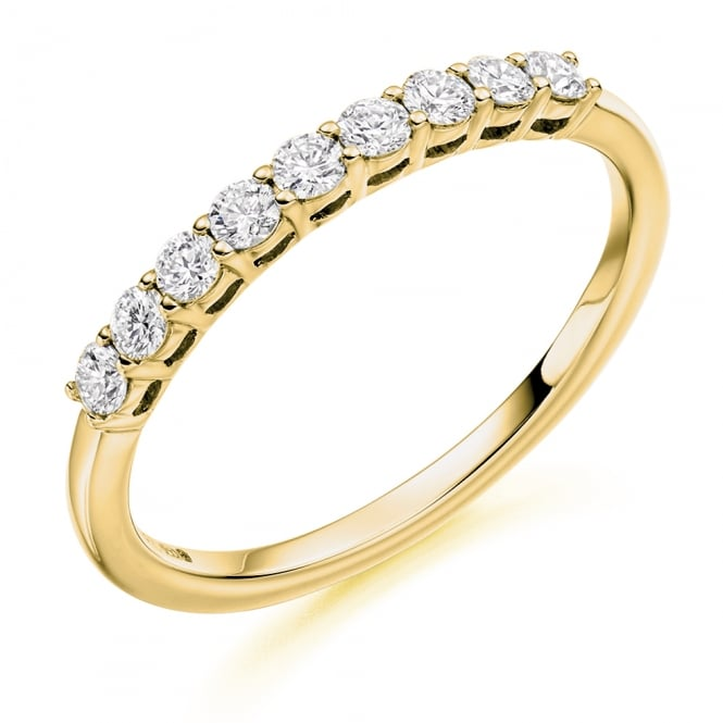 Lance James Wedding & Eternity 9ct Yellow Gold 0.33ct Shared Claw Eternity Ring