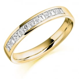 9ct Yellow Gold 0.50ct Channel Set Diamond Ring
