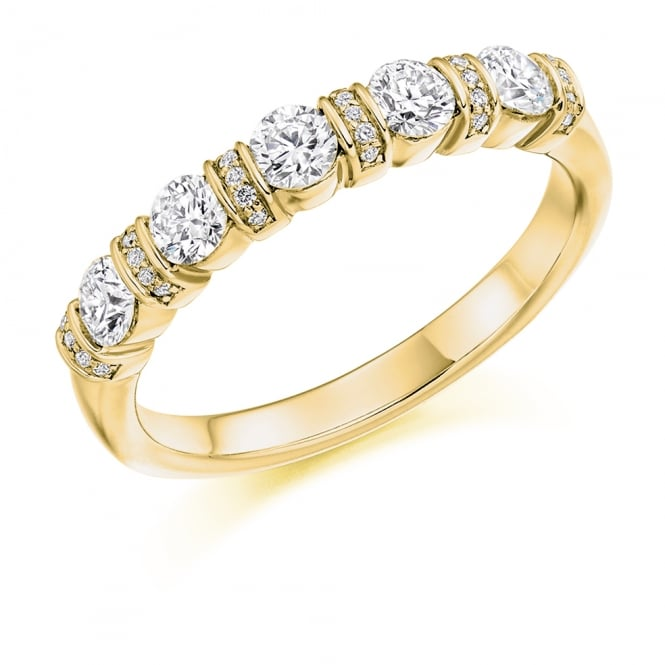 Lance James Wedding & Eternity 9ct Yellow Gold 0.60ct Vintage Style Diamond Ring