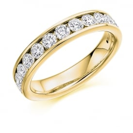 9ct Yellow Gold 1.00ct Brilliant Cut Diamond Ring