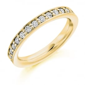 9ct Yellow Gold 1.00ct Fully Diamond Set Grain Ring