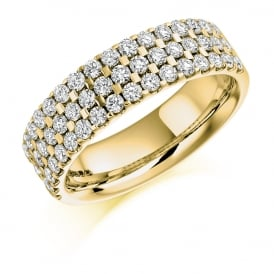 9ct Yellow Gold 1.05ct Diamond Micro Claw Eternity Ring