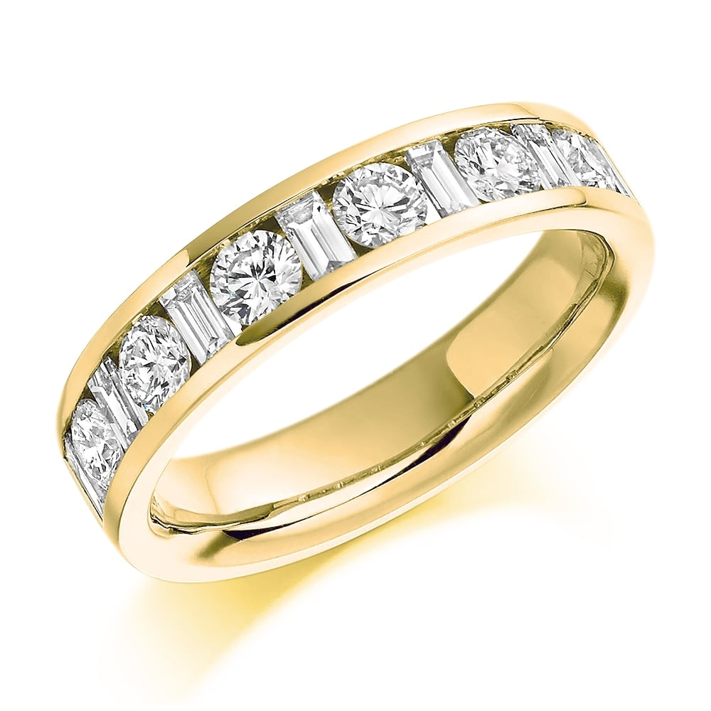 9ct yellow gold mixed cut diamond eternity ring. Black Bedroom Furniture Sets. Home Design Ideas