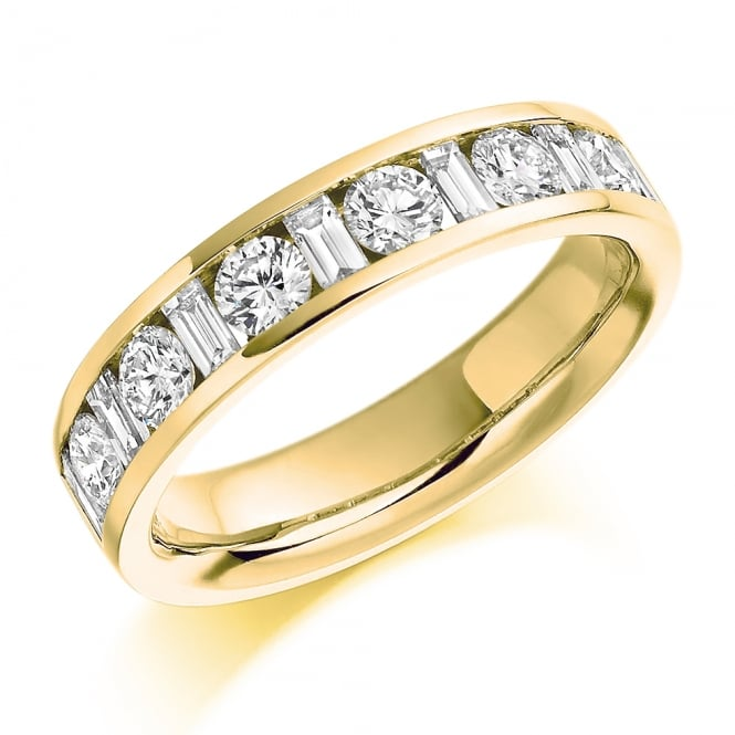 Lance James Wedding & Eternity 9ct Yellow Gold 1.08ct Mixed Cut Diamond Eternity Ring