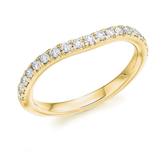 Lance James Wedding & Eternity 9ct Yellow Gold Curved Half Set 0.35ct Diamond Ring