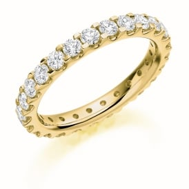 9ct Yellow Gold Fully Set 1.5ct Brilliant Cut Diamond Ring