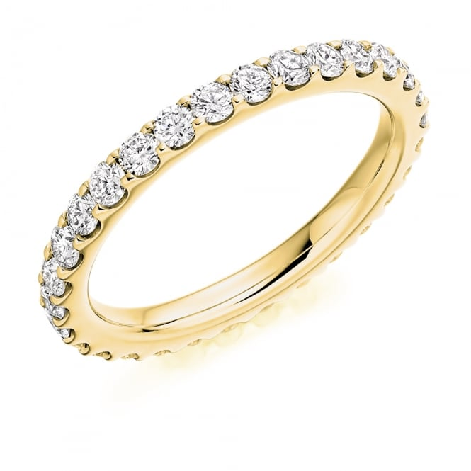 Lance James Wedding & Eternity 9ct Yellow Gold Fully Set Cut 1.10ct Diamond Ring