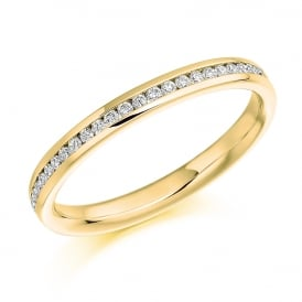 9ct Yellow Gold Half Set 0.15ct Eternity Ring