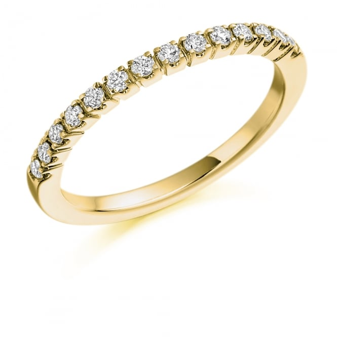 Lance James Wedding & Eternity 9ct Yellow Gold Half Set 0.23ct Diamond Eternity Ring