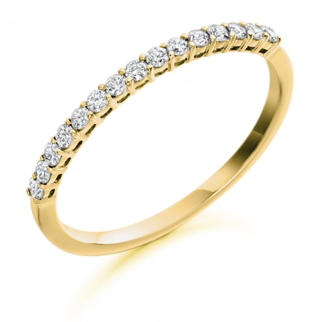 Lance James Wedding & Eternity 9ct Yellow Gold Half Set 0.25ct Diamond Eternity Ring