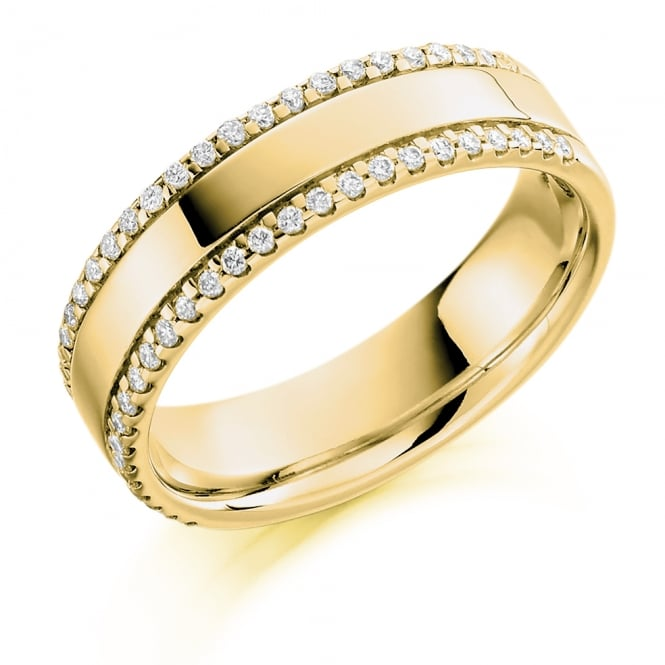 Lance James Wedding & Eternity 9ct Yellow Gold Half Set 0.26ct Brilliant Eternity Ring