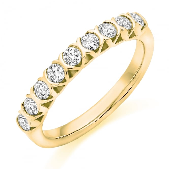 Lance James Wedding & Eternity 9ct Yellow Gold Vintage Style 0.25ct Diamond Ring