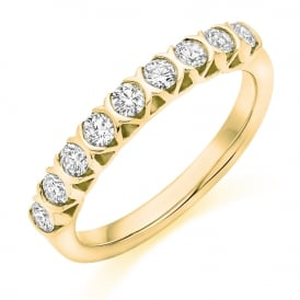 9ct Yellow Gold Vintage Style 0.25ct Diamond Ring