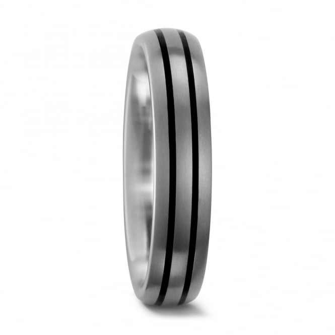 Lance James Wedding & Eternity Mens 5mm Titanium & Ceramic Wedding Ring