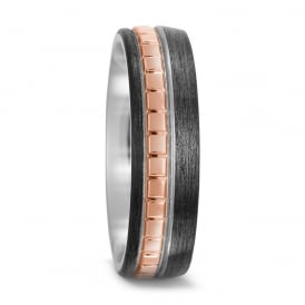 18ct Rose Gold Mens Wedding Rings Lance James Jewellers