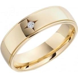 lance james wedding eternity mens yellow gold diamond wedding ring