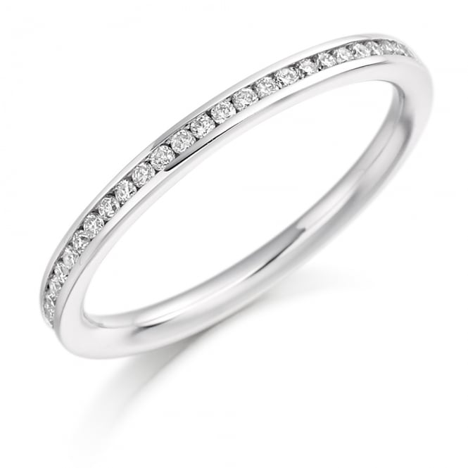 Lance James Wedding & Eternity Palladium 0.20ct Brilliant Channel Set Eternity Ring