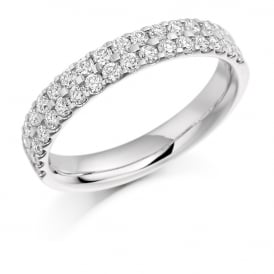 Palladium 0.75ct Half Set Micro Claw Diamond Ring