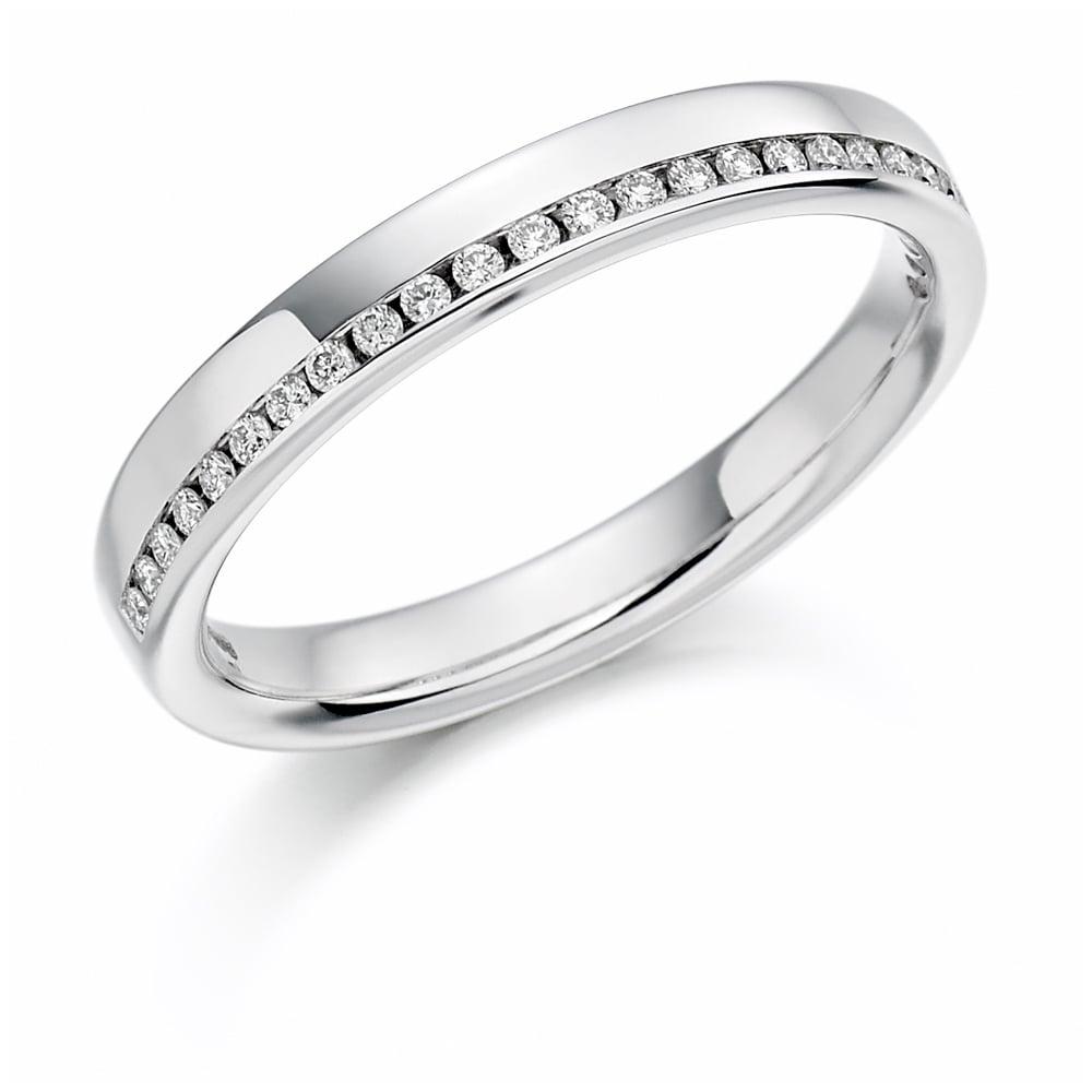 f592d8a7f6678 Lance James Wedding & Eternity Platinum 0.12ct Offset Diamond Eternity Ring