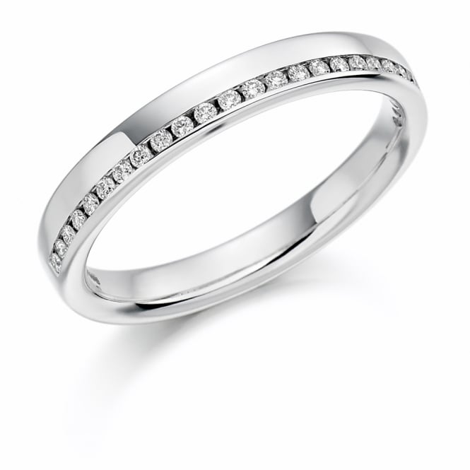 Lance James Wedding & Eternity Platinum 0.12ct Offset Diamond Eternity Ring