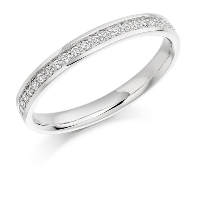 Lance James Wedding & Eternity Platinum 0.17ct Grain Set Diamond Ring