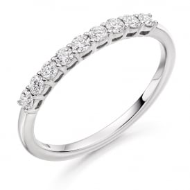 Platinum 0.33ct Shared Claw Eternity Ring