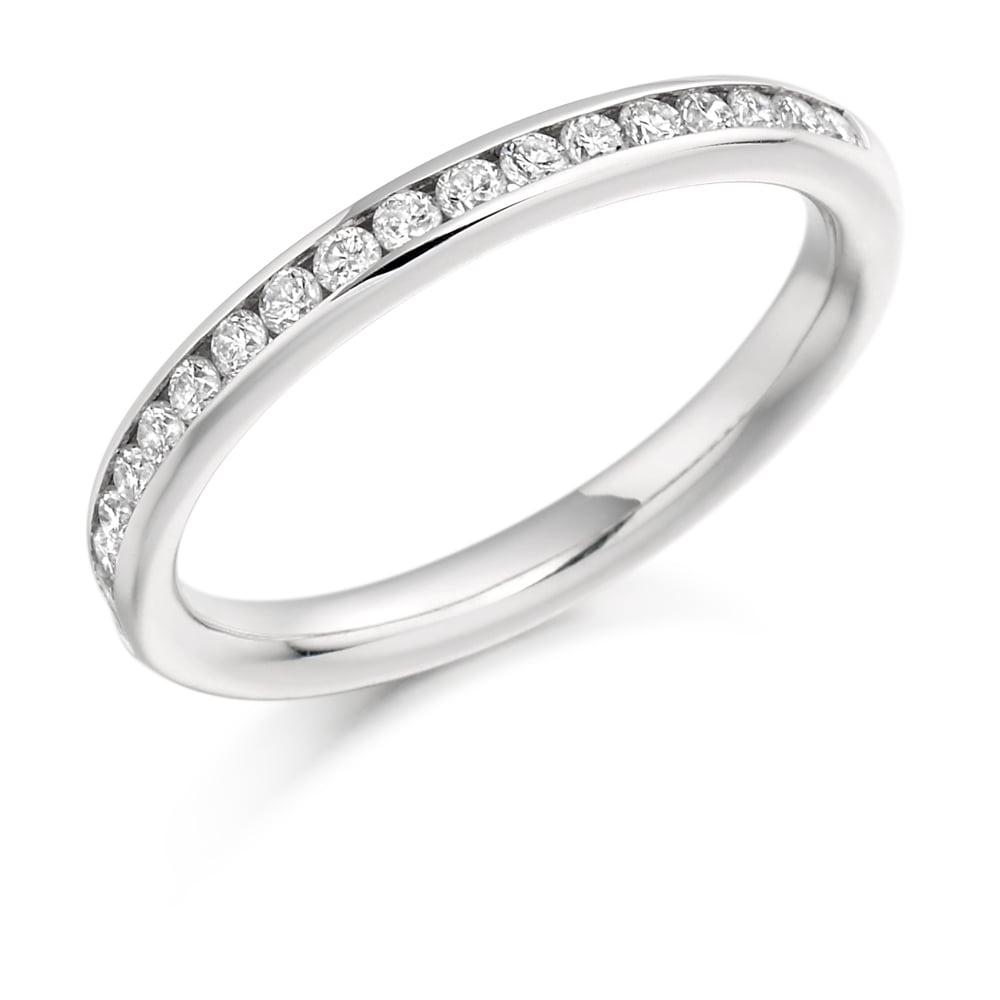 e60a7f1efd0df Lance James Wedding & Eternity Platinum Half Set 0.33ct Diamond Eternity  Ring