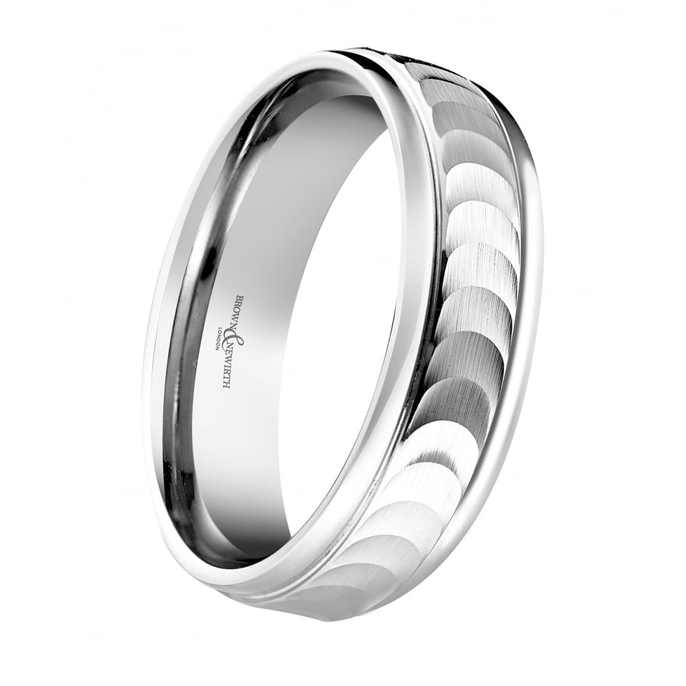 hand engraved stone p bands ring cz wedding titanium band platinum