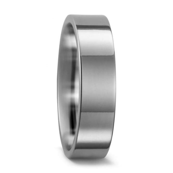 Lance James Wedding Mens Titanium 6mm Cambered Wedding Band
