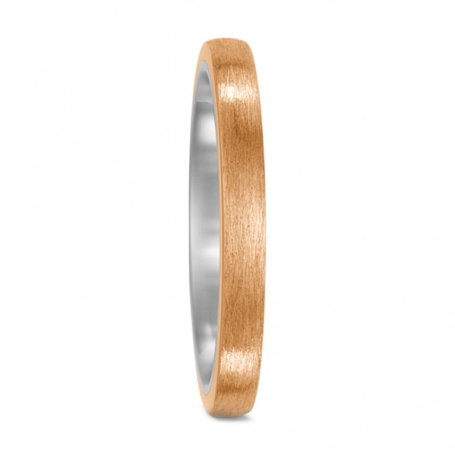 Lance James Wedding Unisex Bronze & Titanium 3mm Wedding Ring