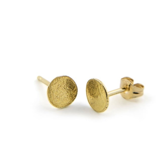 Latham & Neve 18ct Yellow Gold Solid Ripple Stud Earrings