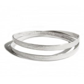 Sterling Silver Loco Infinity Bangle