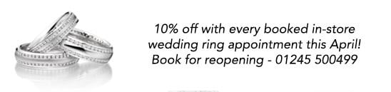 Instore Wedding Ring Appointments April
