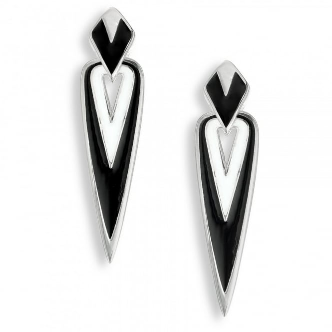 Nicole Barr Sterling Silver Arrow Drop Earrings
