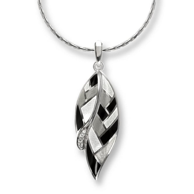 Nicole Barr Sterling Silver & Enamel Harlequin Necklace