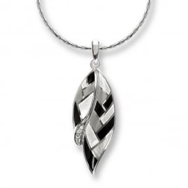 Sterling Silver & Enamel Harlequin Necklace