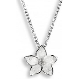 Sterling Silver Stephanotis Floral Necklace