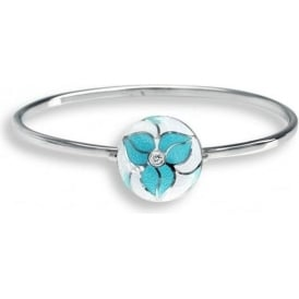 Sterling Silver Trillium Flower Bangle