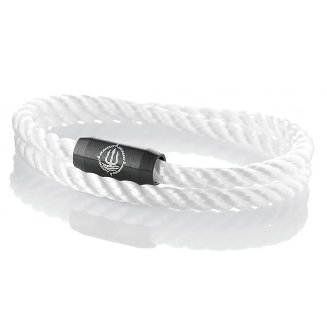 Q-Sportz White 4mm Double Wrap Twisted Rope Bracelet