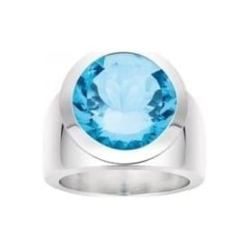 Sterling Silver Blue Quartz Ring