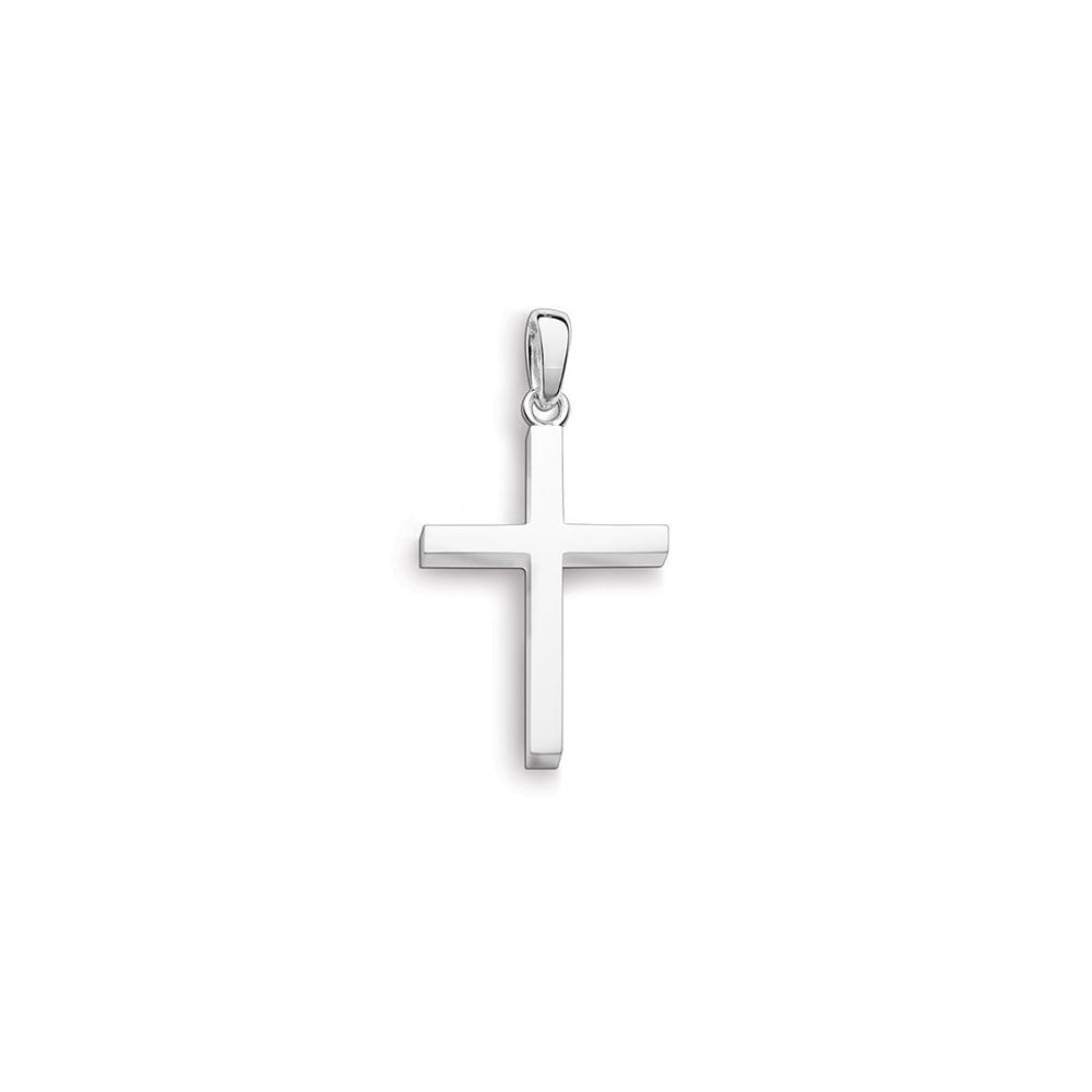 Silver plain cross pendant sterling silver plain cross pendant aloadofball Image collections