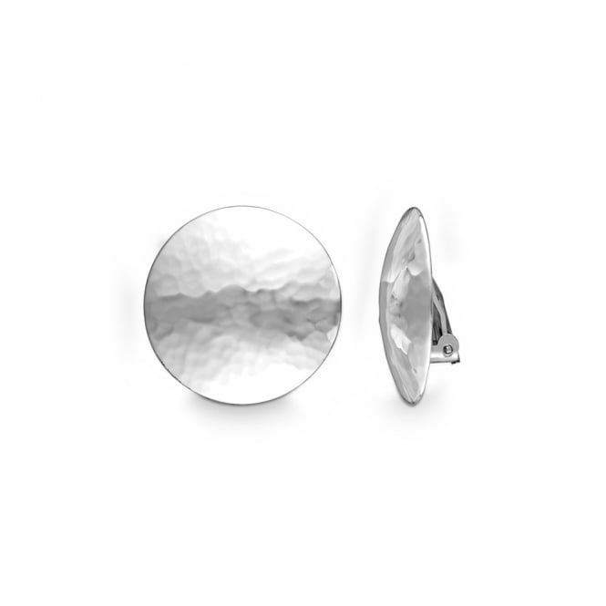 Quinn Sterling Silver Round Clip On Earrings
