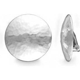 Sterling Silver Round Clip On Earrings