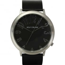 Black Leather Jumbo II Watch